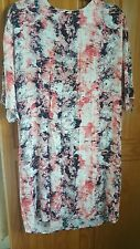 NEON ROSE SIZE 10 OVERSIZED DRESS FLORAL DETAIL NEW WITH TAGS