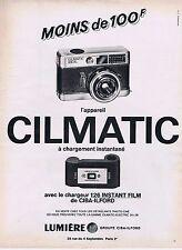 Publicité Advertising 016 1968 Lumière appareil photo Climatic