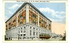 Winnipeg Manitoba MB -TROLLEY AT ROYAL ALEXANDRA HOTEL- Postcard Canada