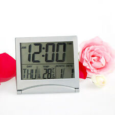 New Digital LCD Weather Station Folding Desk Temperature Travel Alarm Clock