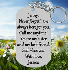 Dog Tag, TOTALLY Custom Keychain with your own wording! mom birthday anniversary