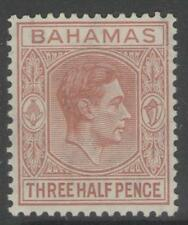 BAHAMAS SG151a 1948 1½d PALE RED-BROWN MTD MINT