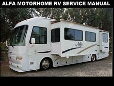ALFA RV MOTORHOME SERVICE MANUAL 320pg for Owners Operation Maintenance & Repair