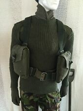New vintage swedish webbing & bag army surplus miliary fishing hunting shooting