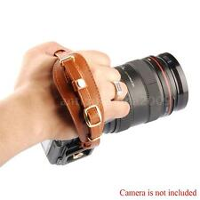 LYNCA Camel PU leather Hand Strap Quick Release Plate For DSLR SLR Digital Cam