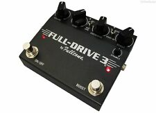 NEW FULLTONE BLACK FULLDRIVE 3 OVERDRIVE PEDAL + BOOST w/ FREE SHIPPING