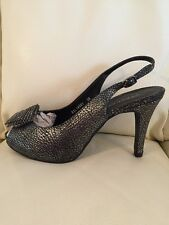 STACCATO Leather Silver/Grey Party Shoes 5 (38)