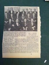 G1-1  Ephemera 1965 picture scilly charter night dinner thomas drake bell