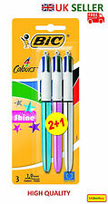 Ball Pens BiC Shine 4 Colours -NEW