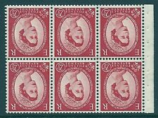 SB80a Wilding booklet pane Tudor Crown perf type I UNMOUNTED MNT/MNH