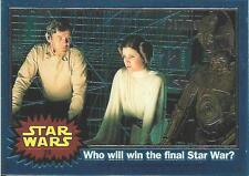 1999 Topps Star Wars Chrome Archives #25 Who Will Win The Final Star War?   Leia