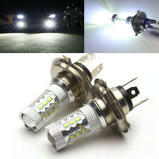 Pair of 80W 1500LM H4 CREE LED Fog Light Bulb High Low Beam Headlight For Cars