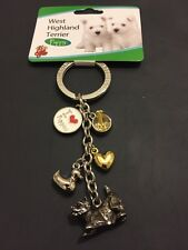 Brand New Dog Keyring West Highland Terrier Puppy Gift Present Animal Lover