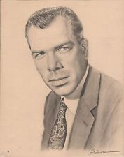 LEE MARVIN - Original Pencil Drawing Signed KANE 1970's ART - ONE OF A KIND