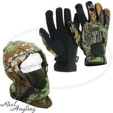 NGT Deluxe Snood & Camo Neoprene Gloves Medium Carp Sea  Fishing Hunting Camping
