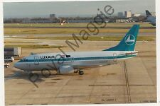 Colour print of Luxair Boeing 737 5C9 LX-LGO at Heathrow in 1993