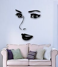Wall Stickers Vinyl Decal Hot Sexy Girl Makeup Eyes Lips Face (ig1718)