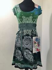 New DesigualLadies Women Dress Short-Sleeve-Green  Beautiful Design XL