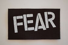 "Fear Cloth Patch Sew On Badge Sex Pistols Punk Rock Music Approx 5""X3"" (CP60)"