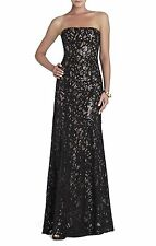 NEW BCBG MAX AZRIA NATASHA APPLIQUE CHIFFON SEQUINED CUTOUT UFG6W508/L115 SZ. 4