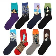 8 Pairs World Famous Painting Fine Art Socks Mona Lisa The Scream Starry Night