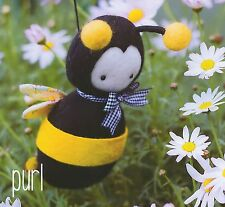 PURL BEE - Sewing Craft A5 Creative Card PATTERN - Soft Toy Doll Bear