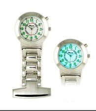 Ravel Nurses EL Back Light stainless fob watch. R1101EL