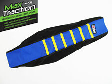 HUSQVARNA HUSKY FC350 2016 RIBBED SEAT COVER BLACK + BLUE + YELLOW STRIPES RIBS