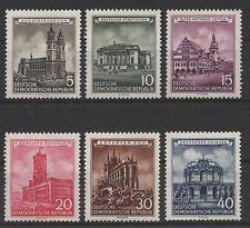DDR MiNr. 491-496 (Bauwerke) kpl. postfrisch