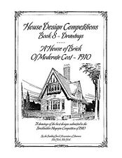 House Design Competitions Book 8 Drawings A House of Brick of Moderate Cost 1910