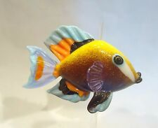 debcrowley lampwork glass Powder Brown Surgeon fish bead with stand Lifelike!