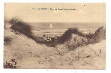 la panne , dans les dunes , vue vers la mer