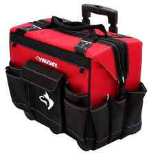 "NEW 18"" Rolling Tool Bag Tote Storage Portable Wheels Mobile Heavy Duty Handle"