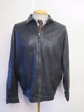 "POLO Ralph Lauren Zipped Leather Harrington Jacket L 42-44"" Euro 52-54 - Black"