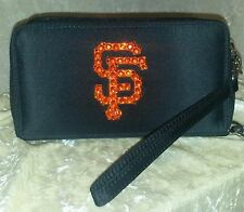 San Francisco SF Giants Cell Phone Wallet Rhinestone Bling MLB Licensed!