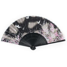Black Butterfly Japanese Folding Fan