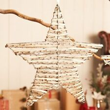Natural Rustic Glitter Twig Hanging Star Xmas Christmas Wedding Decoration 40cm