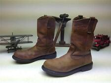 DISTRESSED 1293 USA STEEL TOE RED WING BROWN LEATHER ENGINEER WORK BOOTS 9 D
