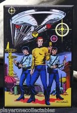 "Star Trek 2"" X 3"" Fridge / Locker Magnet. Kirk, Spock, Scotty"