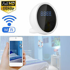 WiFi Spy Alarm Clock DVR Wireless 1080P HD Camcorder Motion Detect Hidden Camera