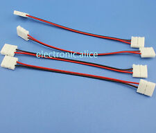 10MM PCB 2 Pin Line Connector Adapter for 5050 Single Color Wire LED Strip 10pcs