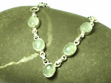 Aqua CHALCEDONY  Faceted  Sterling  Silver  925  Gemstone  Necklace - Gift Boxed