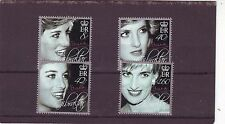 GIBRALTAR - SG1202-1205 MNH 2007 10th DEATH ANNIV PRINCESS DIANA