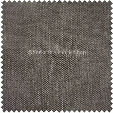 New Linen Woven Effect Durable Heavy Duty Grey Brownish Colour Upholstery Fabric