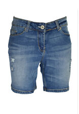 Ladies Skinny Stretchy Denim Shorts Boyfriend Half Pant Ripped Jeans Hot pants