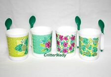 NEW Tupperware Tropical Glamour Mug Collection plus Hang-On Spoons