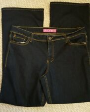 GLO Womens Jeans Sz 17 Juniors Flame MidRise Flare Dark Wash Denim