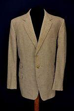 """1950's Vintage Bespoke Tailored Houndstooth Tweed 3 Pocket Jacket 44"""" Regular"""