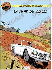 """""""La Part du Diable"""" dessin numérique  TRIUMPH TR4 Style BD par JICEHER."""