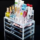 Clear Acrylic Makeup Case Cosmetic Organizer Holder Drawers Jewelry Storage Box